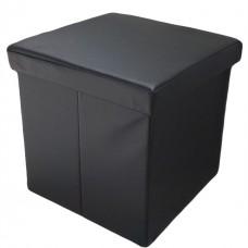 Пуфик в примерочную кабинку черный