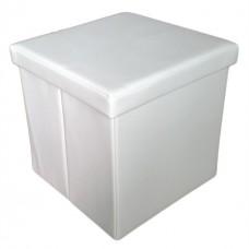 Пуфик в примерочную кабинку цвет белый