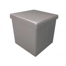 Пуфик в примерочную кабинку цвет серебро