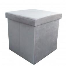 Пуфик в примерочную кабинку цвет серый