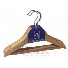 Деревянный тремпель для детской одежды ширина 300 мм