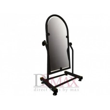 Зеркало металлическое для обуви 35 см черное ZT 35