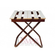 Раскладной стул деревянный на металлической ножке