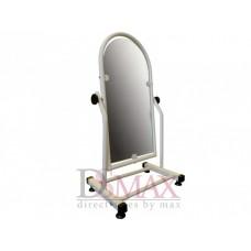 Зеркало металлическое для обуви 35 см белое ZT 23